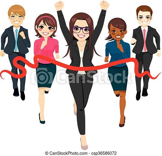 handlowy, prąd, grupa, powodzenie, pojęcie - csp36586072