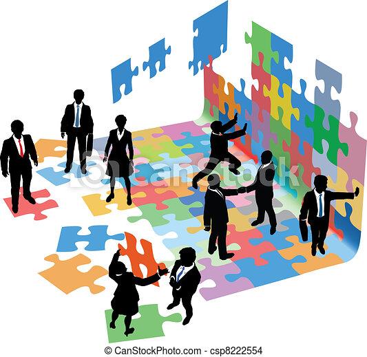 handlowy zaludniają, startup, problemy, rozwiązać, budować - csp8222554