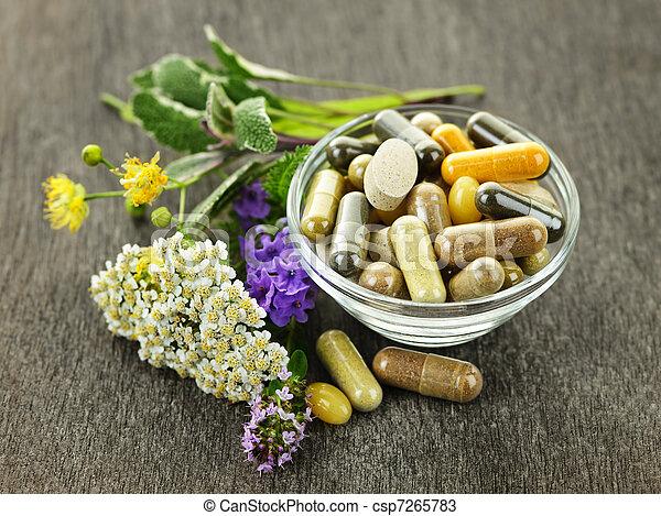 herbal medycyna, zioła - csp7265783