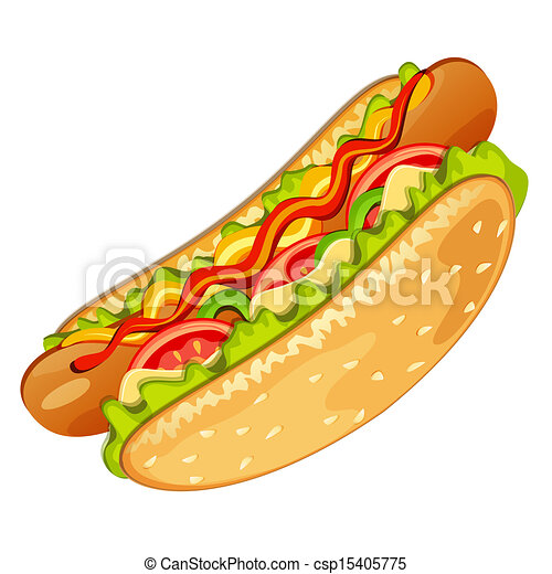 hot dog - csp15405775