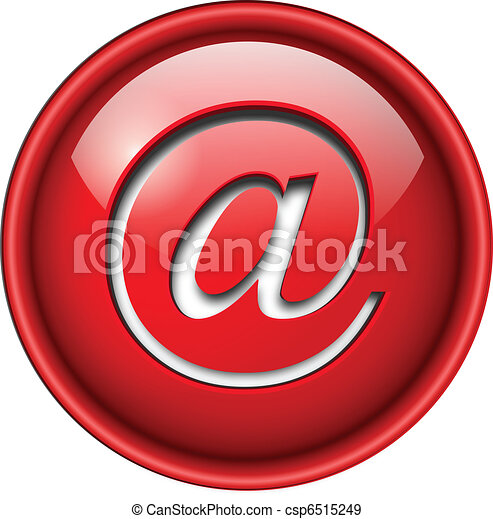 ikona, email, button. - csp6515249
