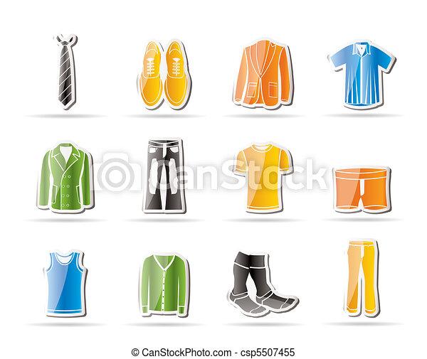 ikony, człowiek, fason, odzież - csp5507455