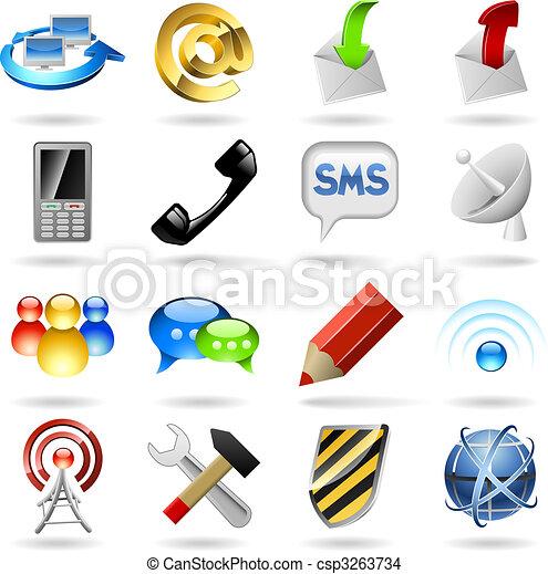ikony, komunikacja - csp3263734
