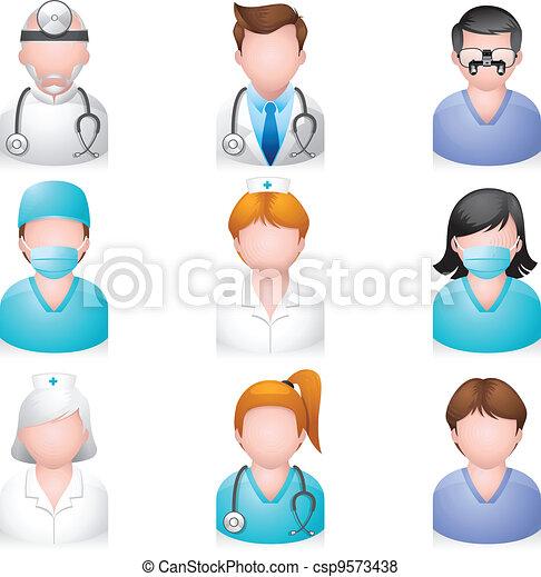 ikony, ludzie, -, medyczny - csp9573438