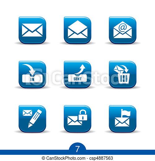 ikony, no.7..smooth, poczta, seria - csp4887563