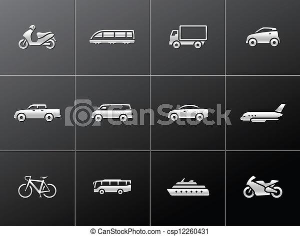ikony, przewóz, metaliczny, - - csp12260431