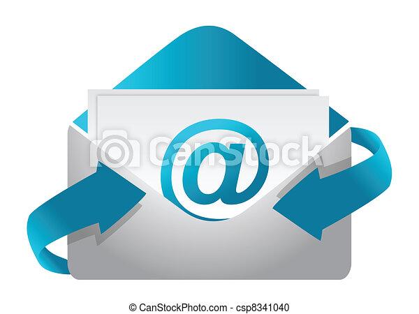 ilustracja, pojęcie, e-poczta, projektować - csp8341040