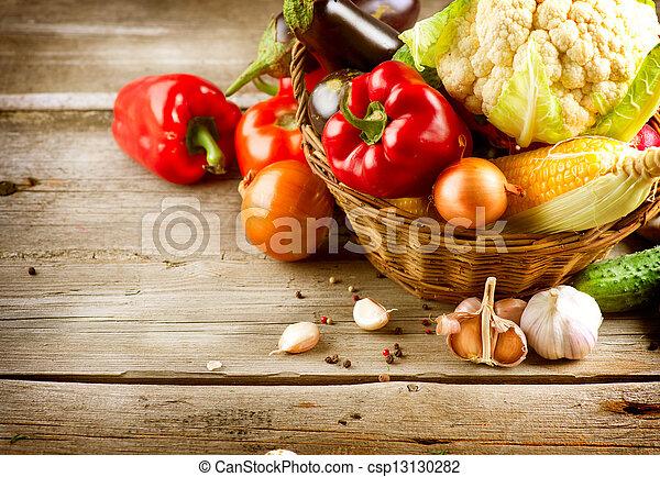 jadło, zdrowy, organiczny, vegetables., bio - csp13130282