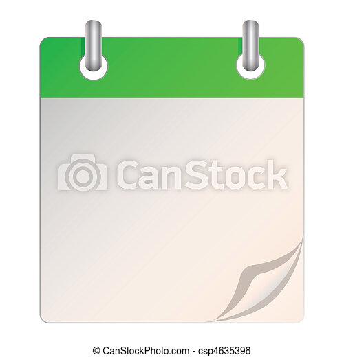 kalendarz, czysty - csp4635398