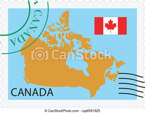 kanada, poczta, to/from - csp6591825