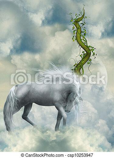 kaprys, biały koń - csp10253947