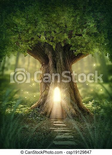 kaprys, dom, drzewo - csp19129847