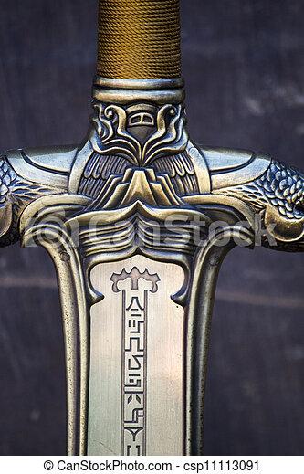 kaprys, miecz, szczegół - csp11113091