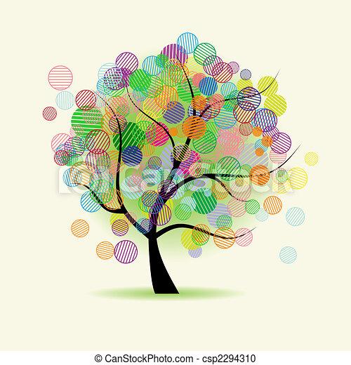 kaprys, sztuka, drzewo - csp2294310
