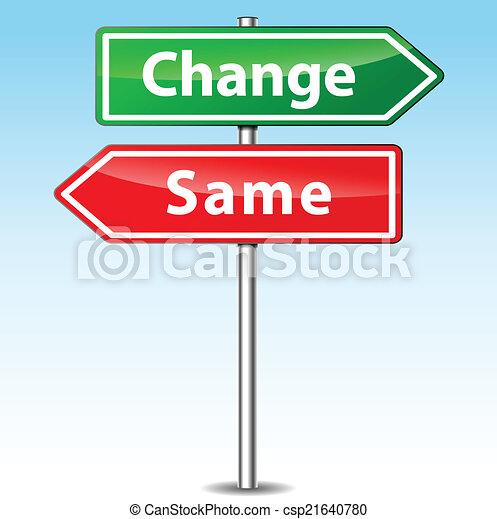 kierunek, wektor, zmiana, tak samo, znak - csp21640780