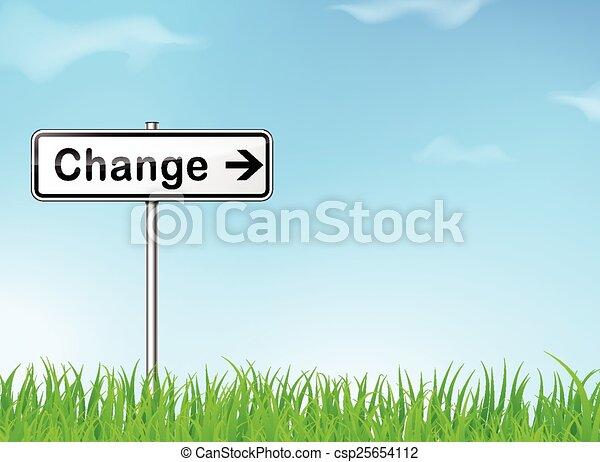 kierunek, zmiana, znak - csp25654112