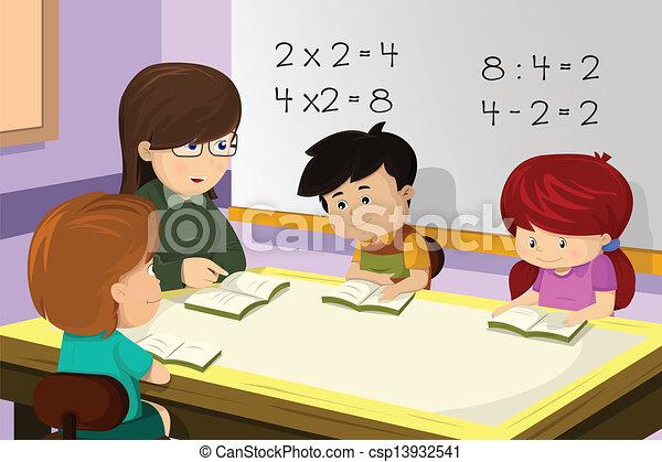 klasa, nauczyciel, student - csp13932541