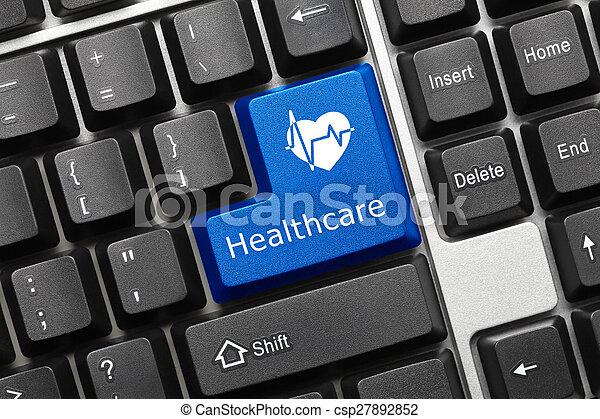 klawiatura, -, key), healthcare, konceptualny, (blue - csp27892852