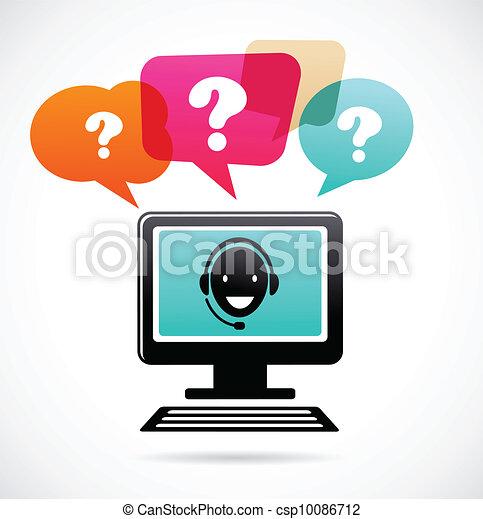 klient podtrzymują, słuchawki - csp10086712