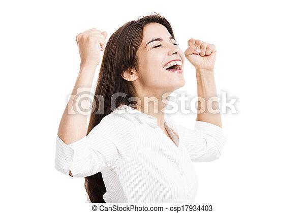 kobieta handlowa, szczęśliwy - csp17934403