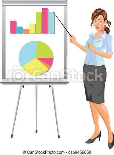 kobieta interesu, prezentacja - csp9456650