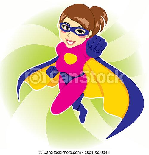 kobieta, superhero - csp10550843