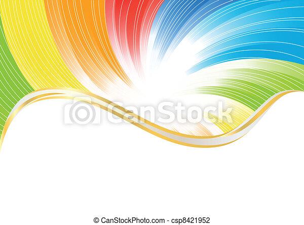 kolor, abstrakcyjny, wektor, jasny, tło - csp8421952