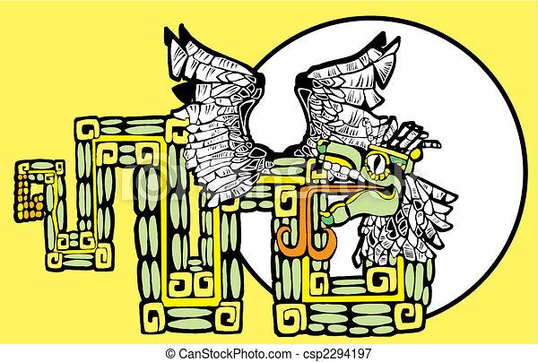 kolor, kukulcan, mayan, wizerunek - csp2294197