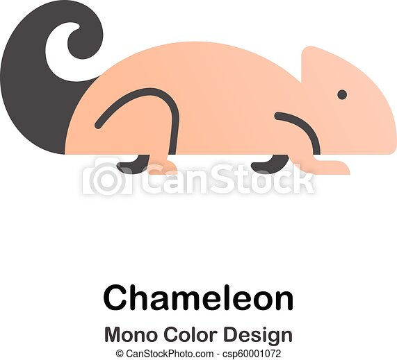 kolor, mono, kameleon, ikona - csp60001072