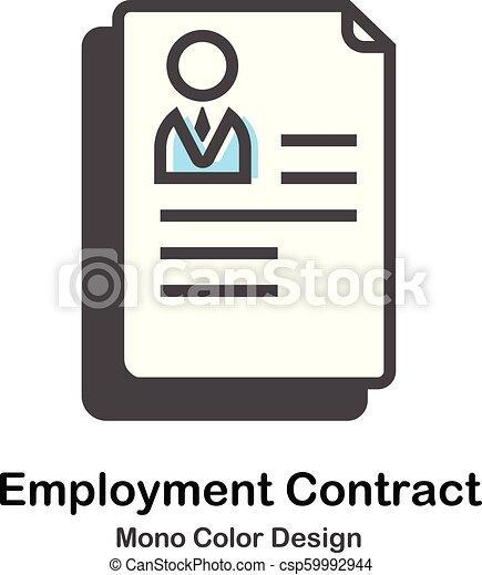 kolor, mono, zatrudnienie, kontrakt, ilustracja - csp59992944