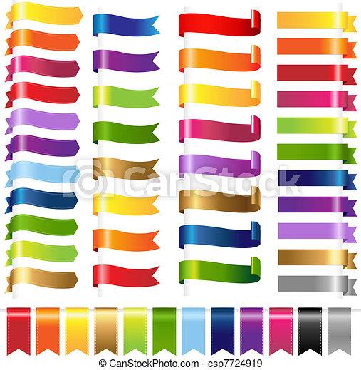 kolor, sieć, komplet, wstążki - csp7724919