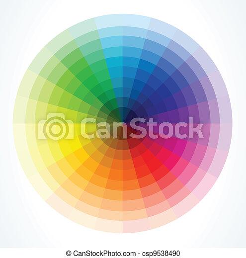 kolor, wektor, wheels., ilustracja - csp9538490
