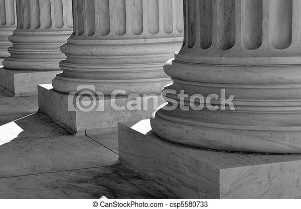 kolumny, najwyższy, zjednoczony, dziedziniec, sprawiedliwość, stany, prawo - csp5580733