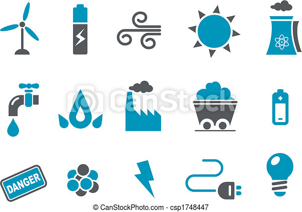 komplet, ikona, energia - csp1748447