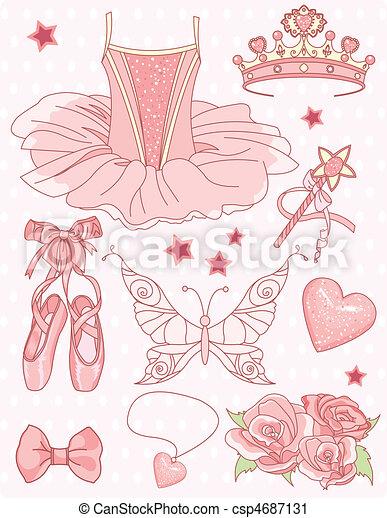 komplet, księżna, balerina - csp4687131