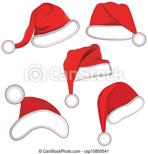 komplet, zbiór, twój, kapelusz, boże narodzenie, design. - csp10800541