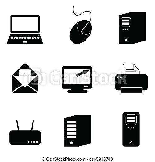 komputerowa technologia, ikony - csp5916743