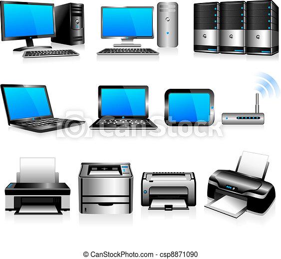 komputery, technologia, drukarze - csp8871090