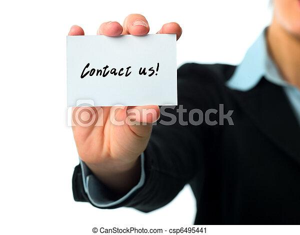 kontakt, handlowa karta, na - csp6495441