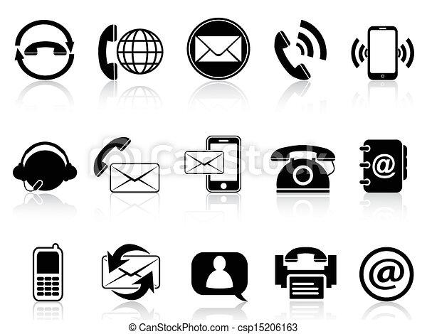 kontakt, komplet, ikony - csp15206163
