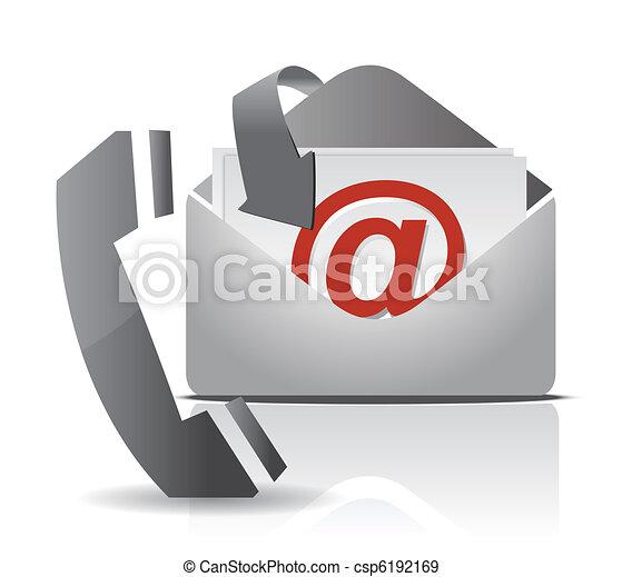 kontakt, projektować, na, ilustracja - csp6192169