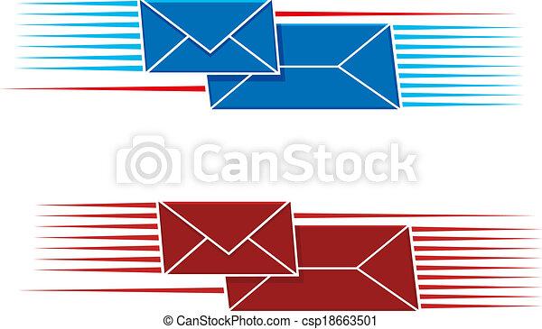 koperty, poczta, dwa, ślimak, ikony - csp18663501