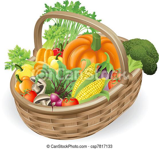 kosz, świeża zielenina - csp7817133