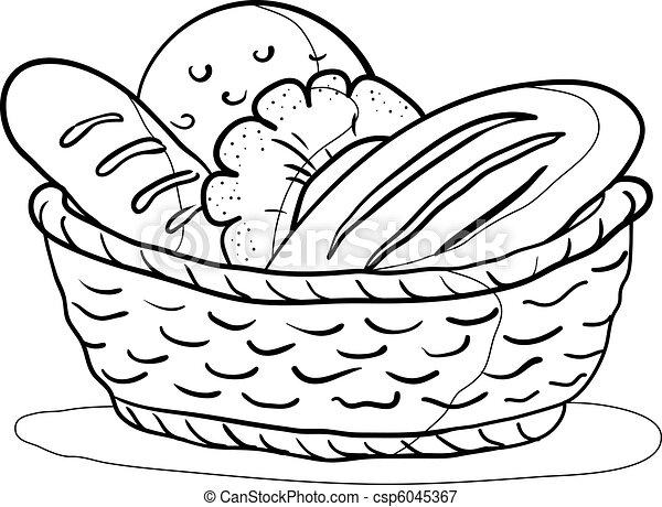 kosz, kontur, bread - csp6045367