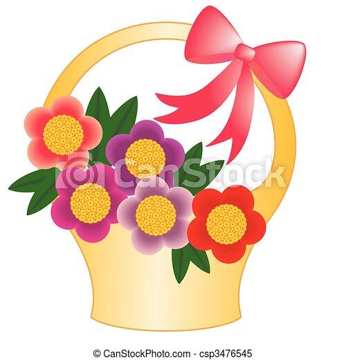 kosz kwiatu - csp3476545