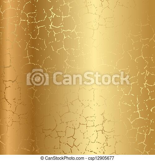 krakelura, złoty, struktura - csp12905677