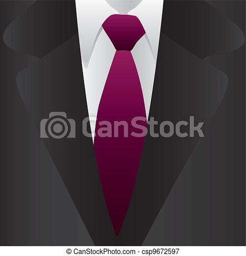 krawat, formalny, garnitur - csp9672597