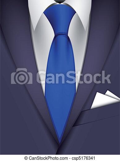 krawat, garnitur - csp5176341
