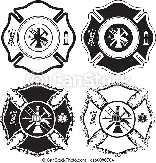 krzyż, firefighter, symbolika - csp6080764