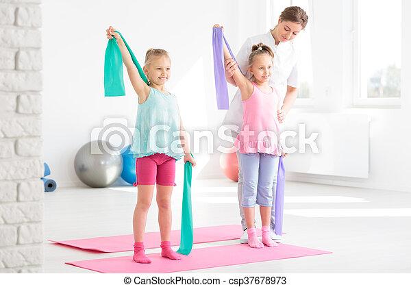 kształt, pediatryczny, fizykoterapia, przyjacielski - csp37678973